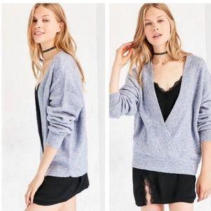 NWT Silent + Noise Surplice Wrap Sweater M